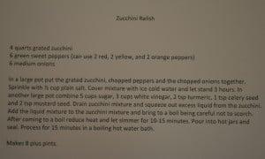 RBM GA zucchini relish