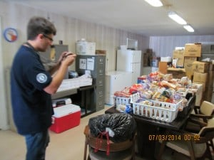 Jeffrey touring Food Pantry