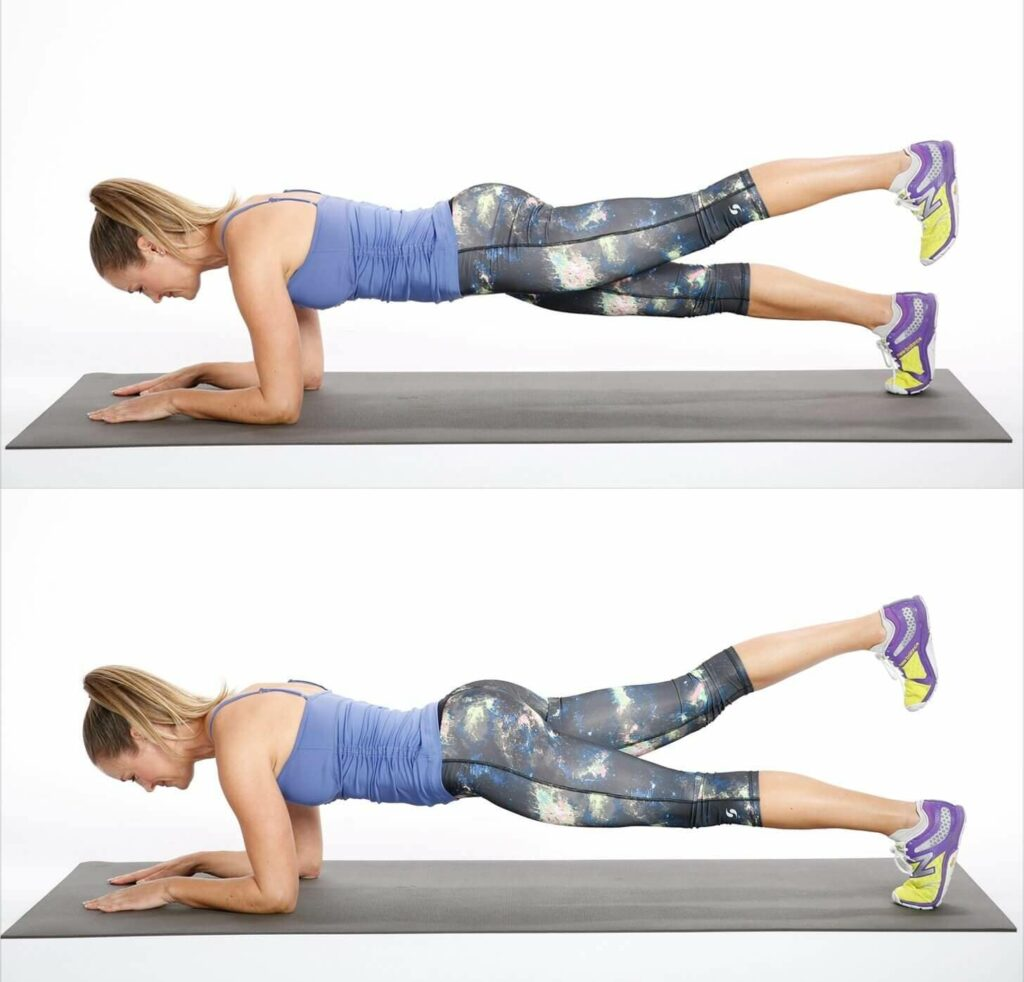 Home Sports Program for Beginners One-Leg Top of the Board