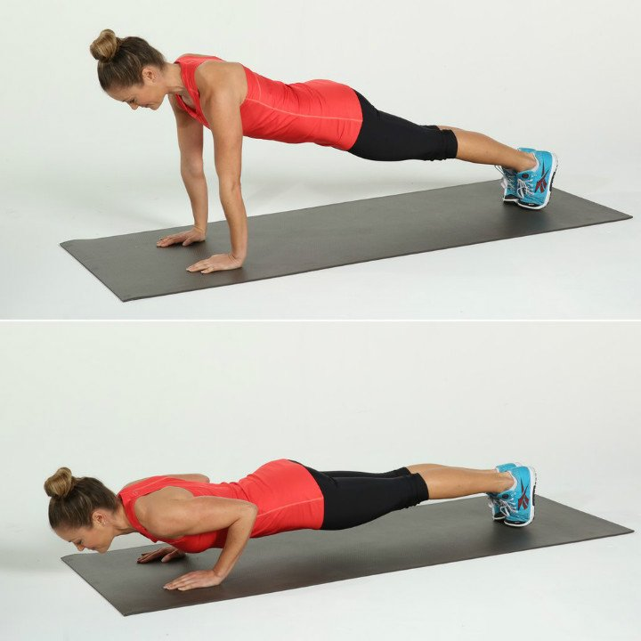 The power to do pushups exercise