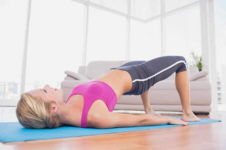 Home Exercise hip lift Exercise