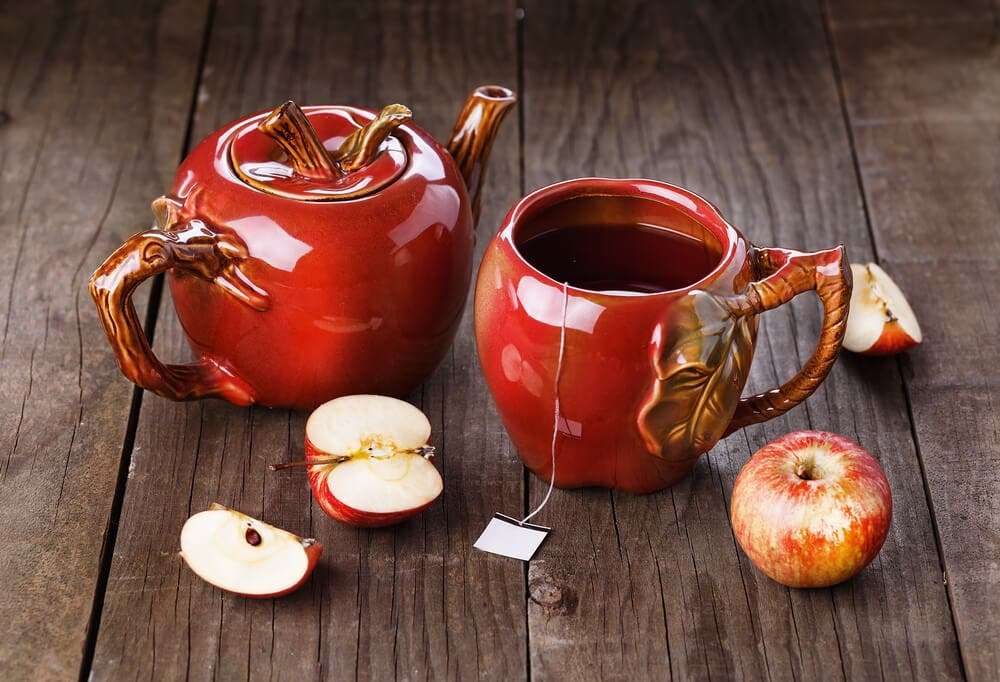 What are the benefits of apple tea?