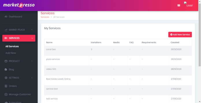 MarketPresso Review Feature Create & Edit Unlimited Services Or Products