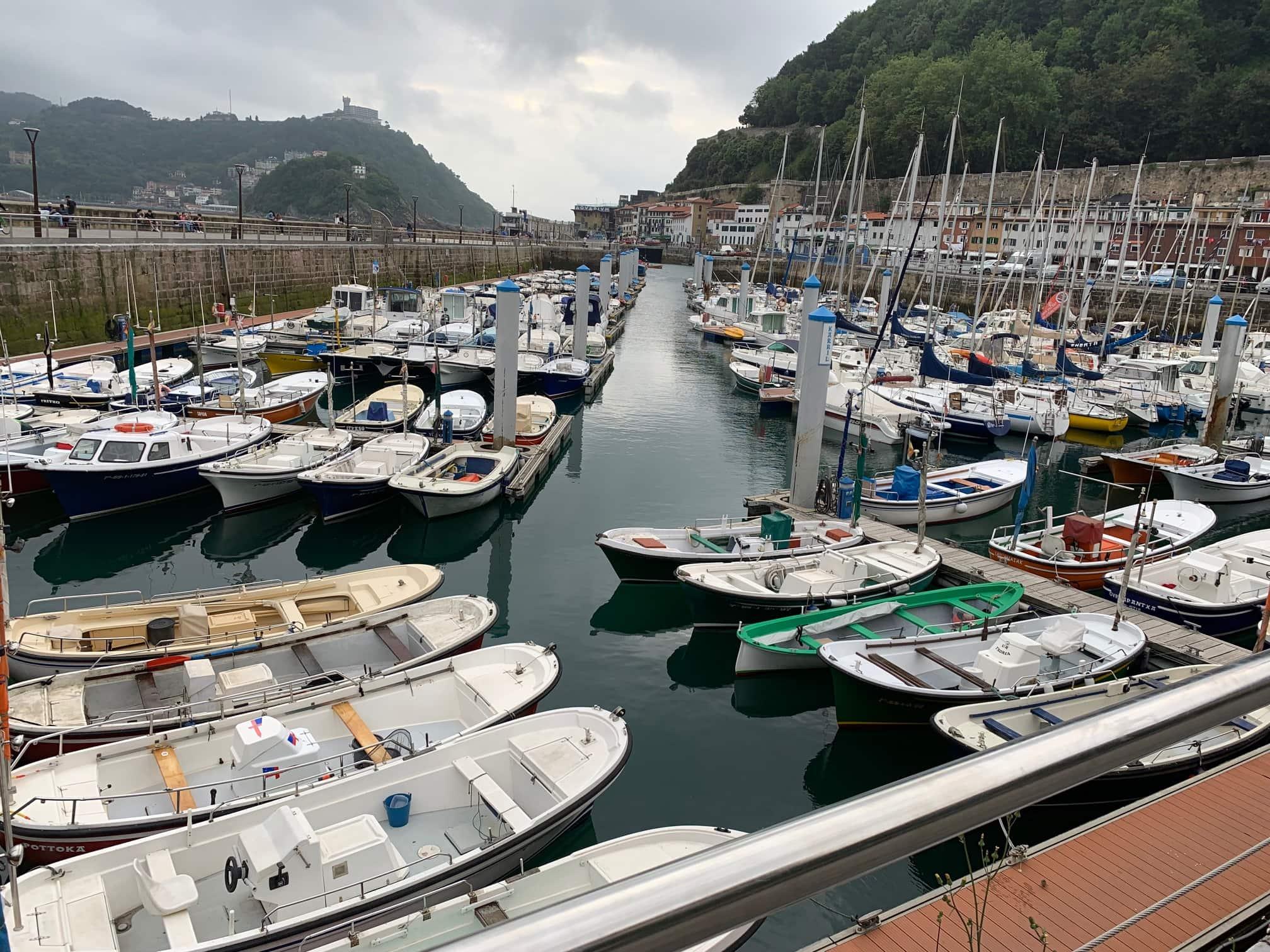 San Sebastian docked boats