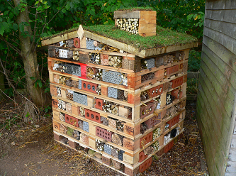 An Innovative Bug Super Hotel as a Winter Habitat for various Insects, Arachnids etc.