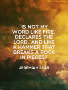 The Word Centered Life - Day 12 - Jeremiah 23:29 - Like A Mighty Hammer- Growing As Disciples