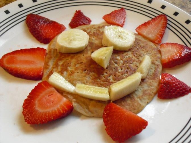 Apple Sauce Pancake Recipe! Topped with fresh fruit!