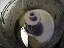 Blend with salt 1st. After mixed add sugar.