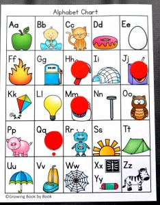 Alphabet activity for  an printable chart also the best free rh growingbookbybook
