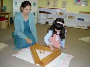 Teacher Observing a Math Work