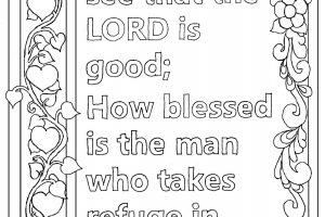 Psalm 34.8 coloring page