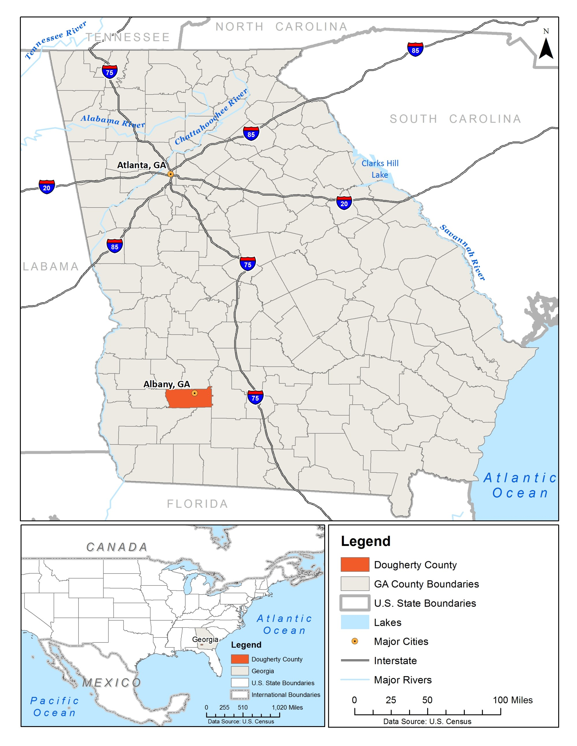 hight resolution of dougherty county is located in southwest georgia image source ub food systems planning and healthy communities lab