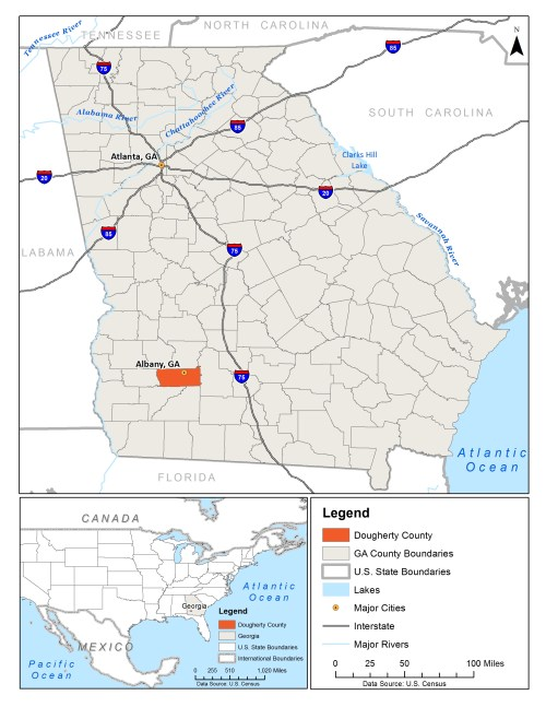small resolution of dougherty county is located in southwest georgia image source ub food systems planning and healthy communities lab