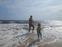 sea with daddy