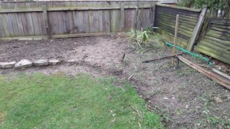 The front garden which looks a complete mess at the moment - but just wait until I get the hedging in!