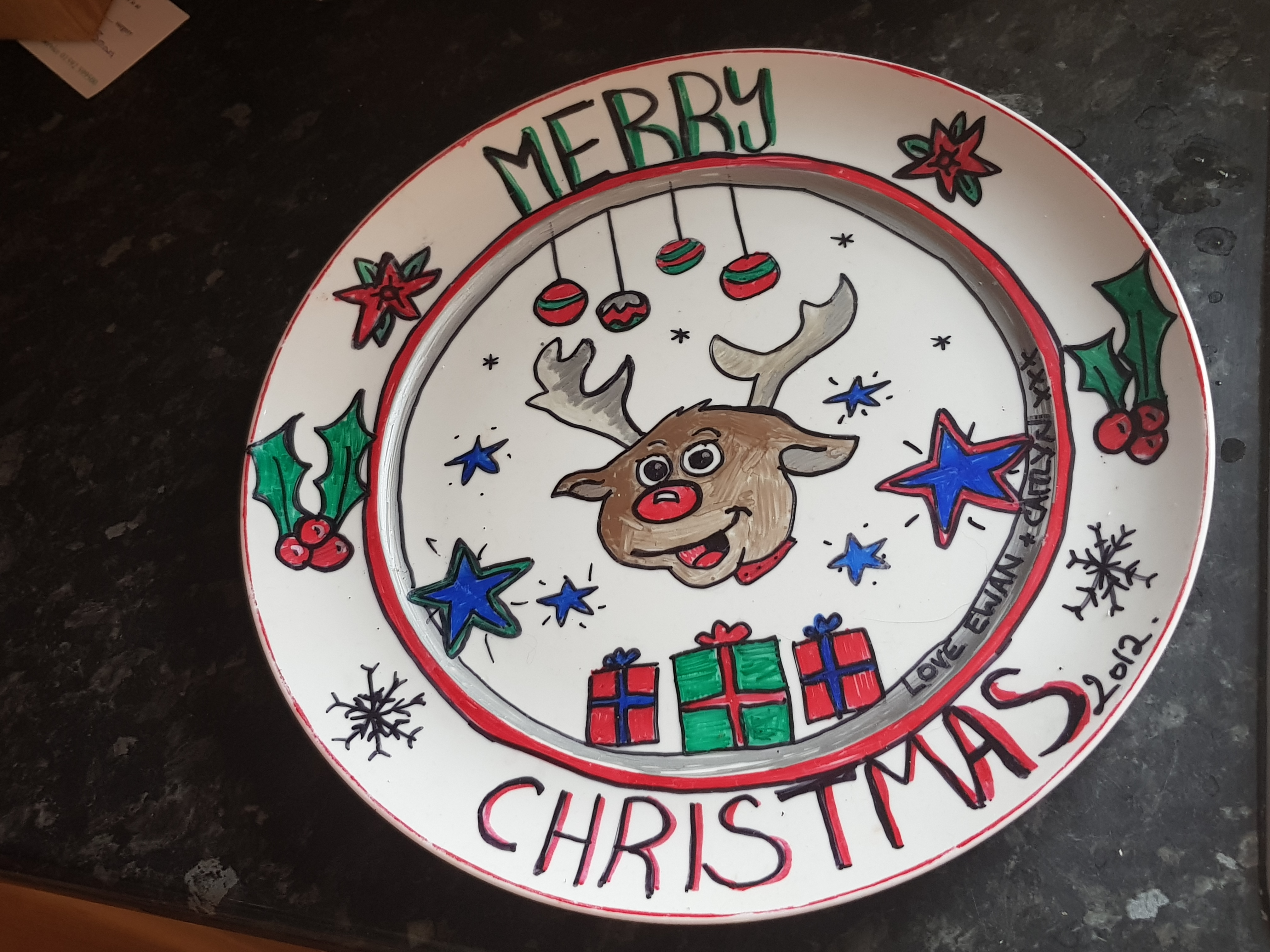 Family advent activites, make memories with this craft fpr a christmas plate