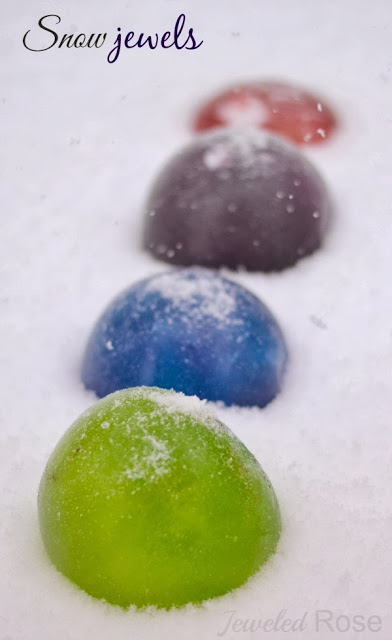 Snow marbles, weather activity for kids