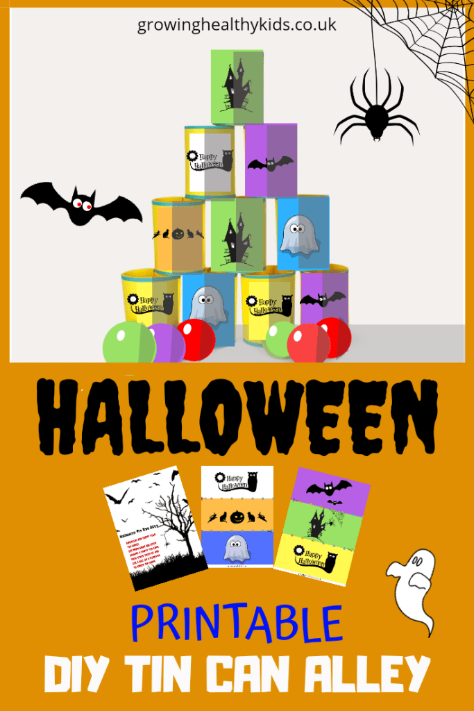 Lots of halloween fun with this printable tin can alley activity