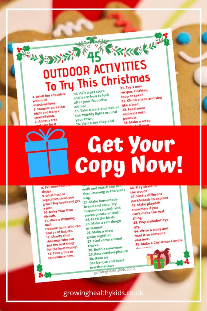Get your copy of outdoor activities to try this Christmas to get ideas for having fun this festive season.