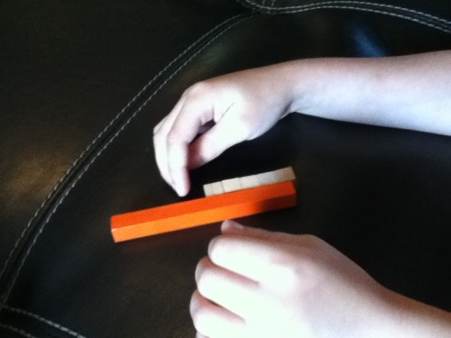 place value | cuisenaire rods | supplementing A Beka