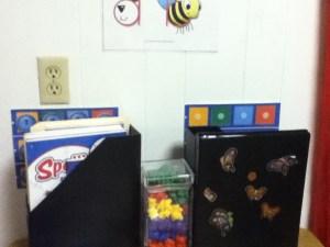 homeschool room organization
