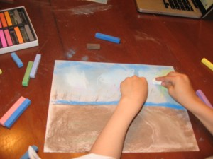Beach by 6 year old