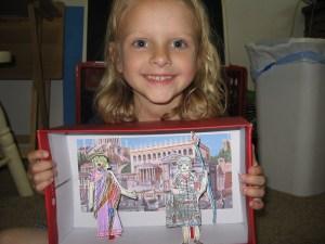 Roman Paper Dolls and diorama