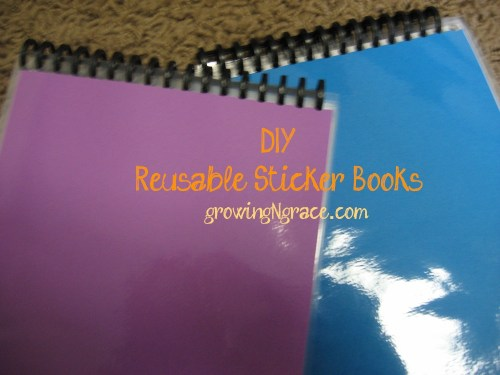 DIY Reusable Sticker books | toddler activities | travel activities