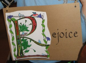 Child calligraphy project