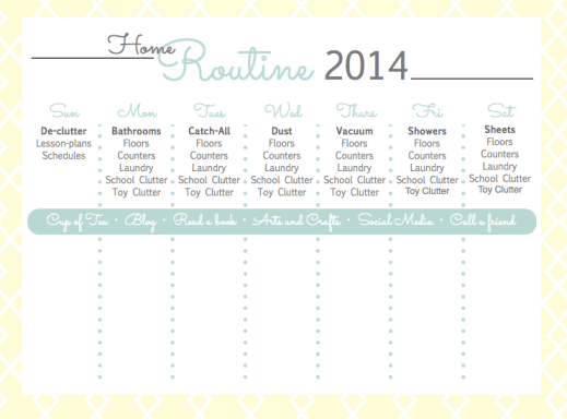 Free Cleaning Printable