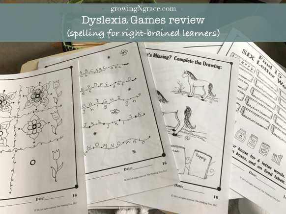 Dyslexia Games review | spelling for dyslexia | homeschooling dyslexia | right-brained learner