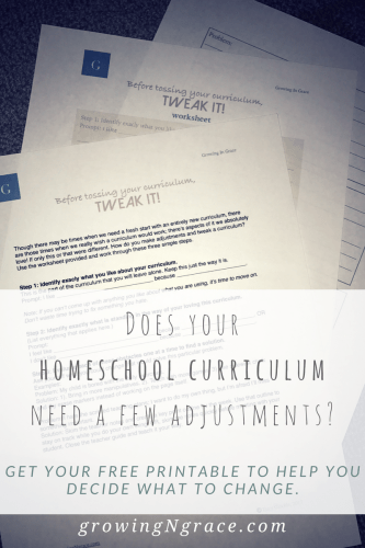 Free Download! | making adjustments to your homeschool curriculum |