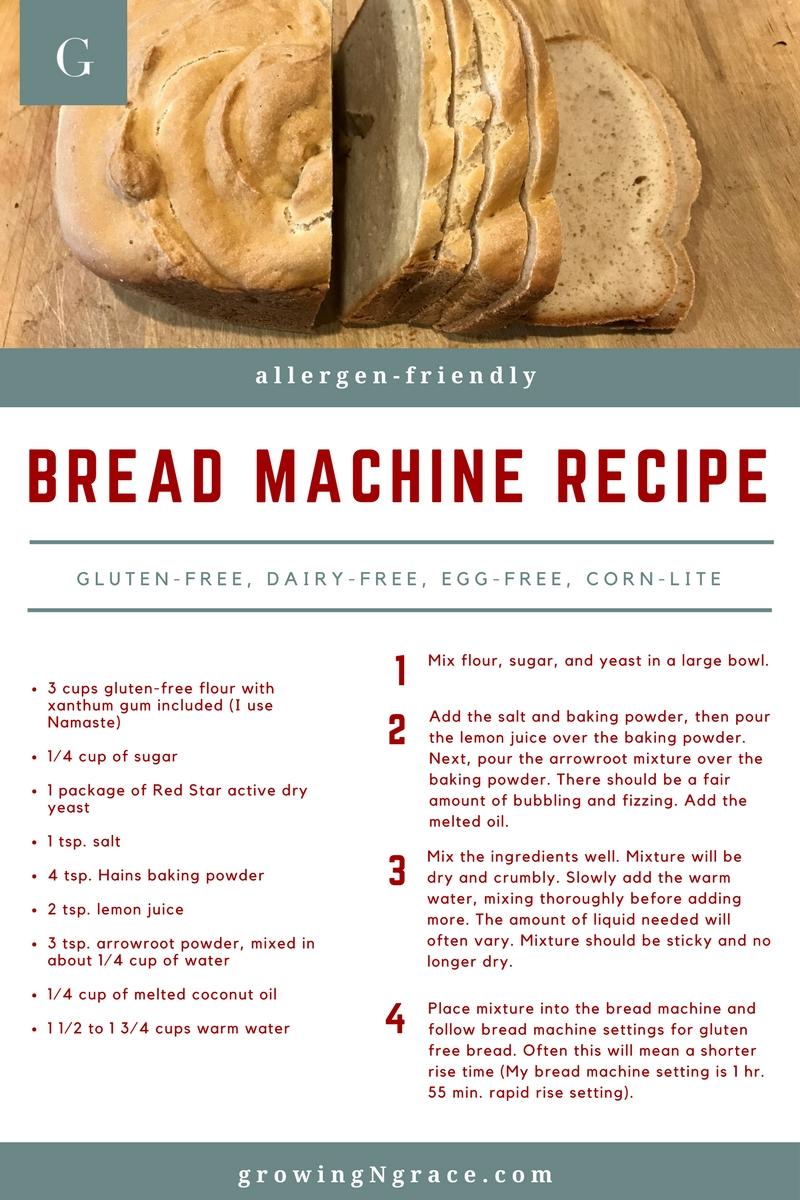 Allergy-Friendly Bread Machine Recipe