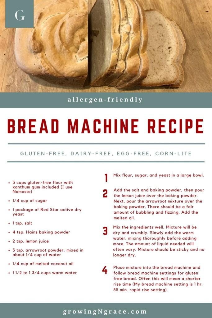 gluten-free, dairy-free, egg-free, corn-lite bread recipe | allergy friendly kitchen