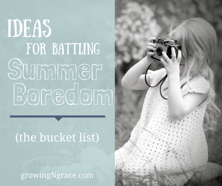 battling summer boredom | helping kids set goals and expectations | bucket list for kids
