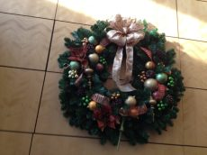 Copper, Gold, Green, Wreath