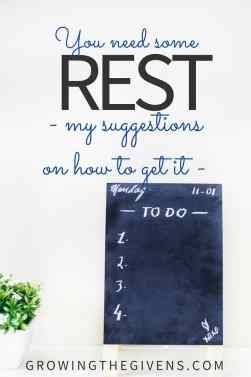 Rest is something that we all need more of, but we sacrifice due to our worship of the busy life.