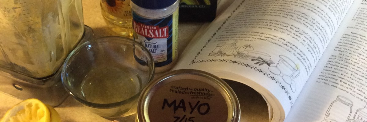 homemade mayo made in the blender.