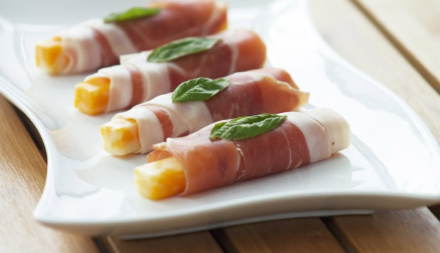 The prosciutto version of this snack. Delicious and beautiful.