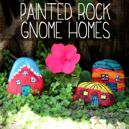 Gnome House Painted Rocks Photo: Spoonful.com