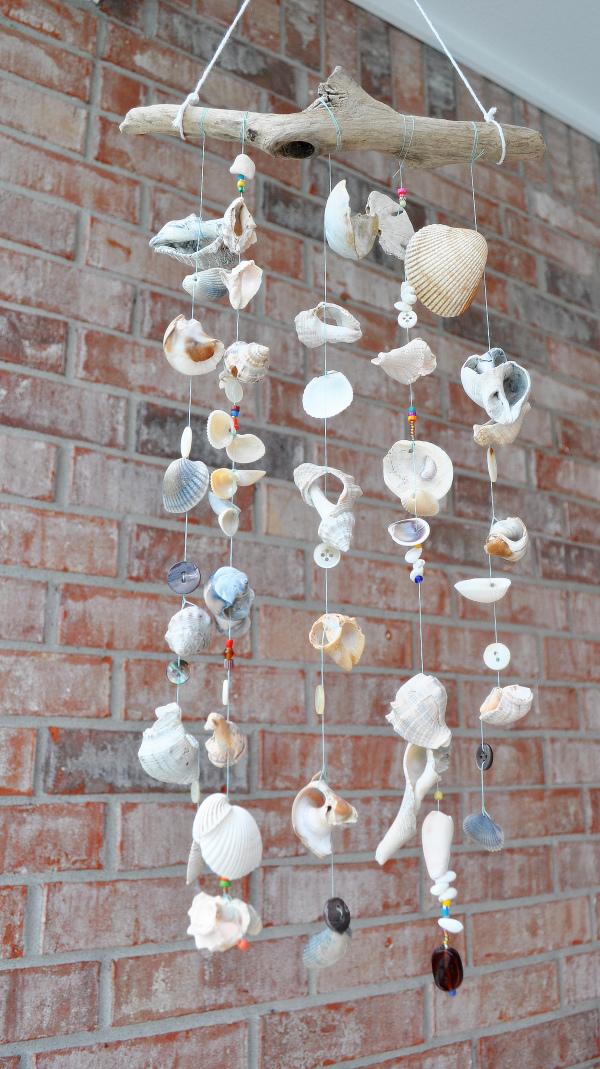 Seashell wind chime. Photo: Home Sweet Homemade.