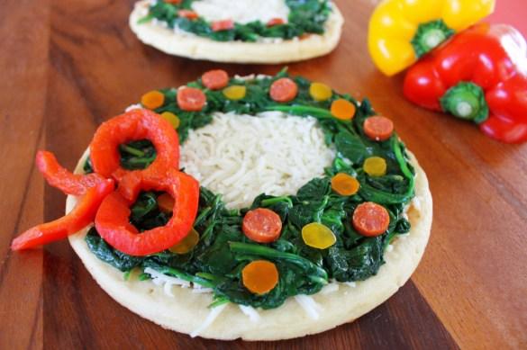 wreath holiday pizza Christmas