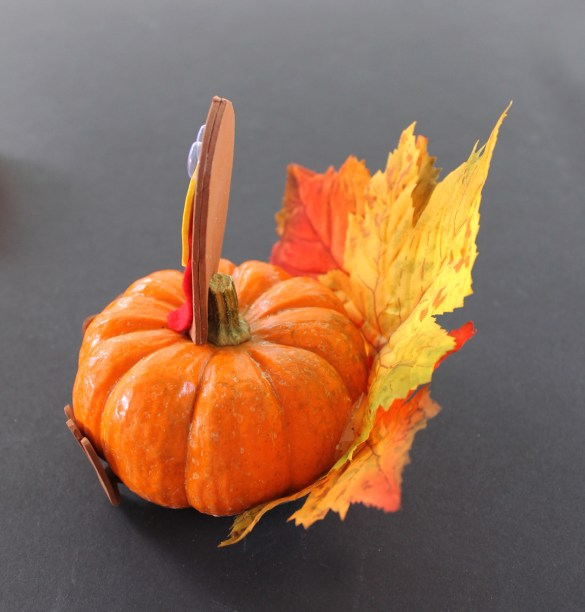 turkey pumpkin craft
