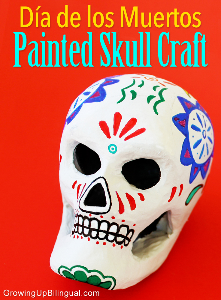 Day of the Dead craft painted skulls Dia de los Muertos calavera