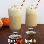 skinny pumpkin spice latte milkshakes