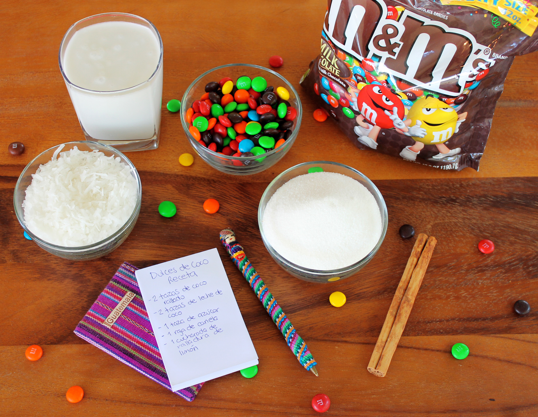 Baking with M&M's: Traditional Guatemalan Coconut Candy With