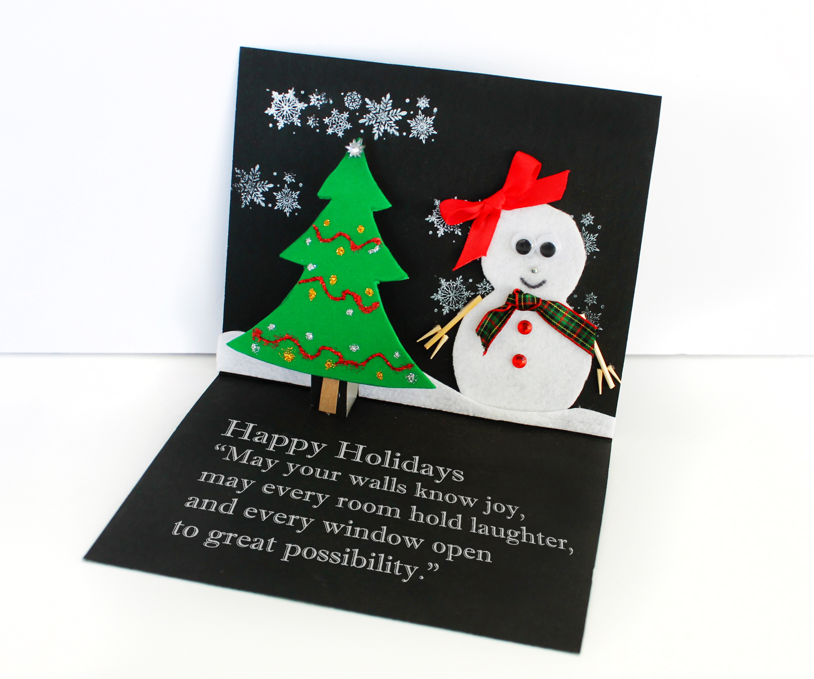 Christmas Card Craft Ideas For Kids Part - 44: Holiday Card Craft For Kids