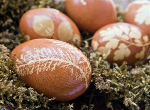 Dried flower Easter Eggs