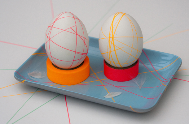Cretive and easy colored tape Easter eggs