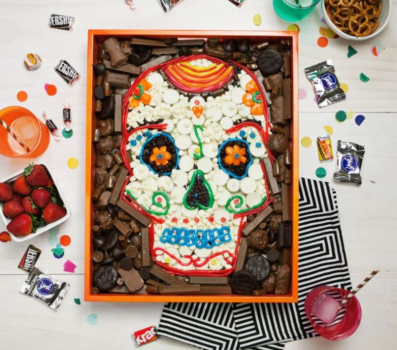 Day of the Dead Skull Candy Platter